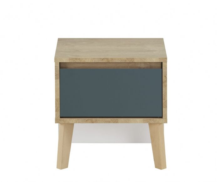 San Francisco Bedside Unit With Blue Drawer